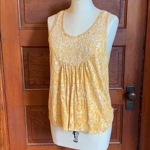 Lucky Brand beaded tank size small